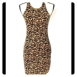 VS PINK Bodycon Leopard Print Dress M
